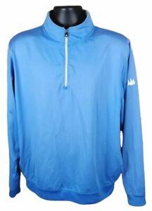 FootJoy FJ Pullover Sweater 1/4 zip jacket Blue Golf Mens Large