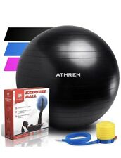 Exercise Ball Professional Grade Equipment Anti Burst with Hand Pump, 75cm