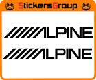 COPPIA ADESIVI ALPINE PER MOTO AUTO E SUPERFICI LISCE TUNING