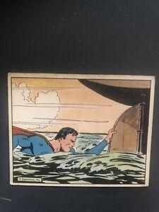 1940 Superman Gum Trading Card #37