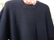vintage mans jumper poly cotton retro preppy CARLO COLUCCI textured L PB173
