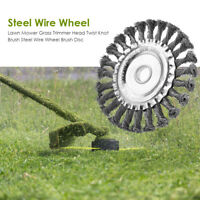 Wire Wheel Weed Brush Lawn Mower Removal Grass Trimmer Cutter Blade Tools AU