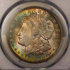 1921 Morgan Silver Dollar *PCGS MS65* Vibrant Rainbow Toning