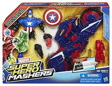 Marvel Toy - Super Hero Mashers - Captain America Deluxe Action Figure with Capc