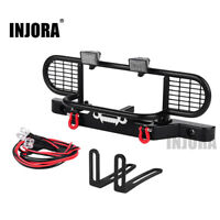 Metal Front Bumper w/ Light for 1/10 Scale RC Crawler Car Traxxas TRX4 Defender