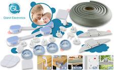 Child Safety Latch Baby Proof Set Lock Drawer Edge & Corner Guards Bumper 21pcs