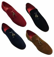 Men Slip On Tassel Faux Suede Comfortable Loafers Shoes UK Size 6 7 8 9 10 11