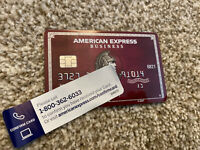 AMERICAN EXPRESS PLUM BUSINESS TRAVEL CREDIT CARD AMEX CENTURION VISA MASTERCARD