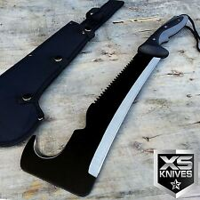 "19"" Full Tang TACTICAL SURVIVAL Fixed Blade MACHETE Hunting Sword Knife"