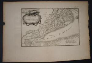 SINAI SUEZ GULF EGYPT 1776  CARSTEN NIEBUHR UNUSUAL ANTIQUE COPPER ENGRAVED MAP