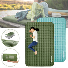 Double Sleeping Mattress Inflatable Mat Air Bed Camping Moisture-proof Sleep Pad