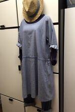 Veritecoeur Japan Cotton Linen Blue One Size Kimono Utility Housecoat Jacket