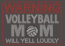 Volleyball Mom Rhinestone iron on transfer DIY applique sports will yell