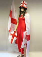 England Rugby Footballl Supporters Kit 6 Pcs Flag Hat Cape Wavy Hand Baton