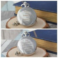 Personalised Father of the Bride/Groom Silver Pocket Watch in Gift Box Wedding