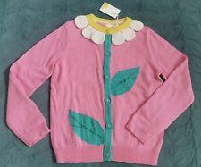 🌼🌻Mini BODEN Daisy Flower Cardigan Jumper 8-9Y Girl Pink Green Wool Blend