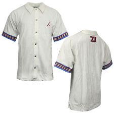 Nike Jordan Corduroy Collared Buttoned Baseball Shirt Off White 188858 100 A94D