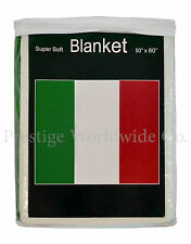 Italian Flag Fleece Blanket *NEW* 5 ft x 4.2 ft. Italy Travel Throw Cover Italia