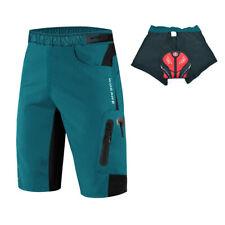 Men's Mountain Bike Baggy Cycling Shorts Gel Padded Loose-fit Riding Pants M-3XL