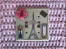 double switch plate cover french themed paris