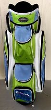 Adams Idea Cart Golf Bag Blue Green And White 7 Way with Rain Cover