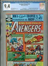 1981 MARVEL AVENGERS ANNUAL #10 1ST APPEARANCE ROGUE MADELYN PRYOR CGC 9.4 BOX9