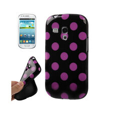 Smart Protectors! Softcase Schutzhülle Samsung Galaxy S3 Mini Punkte Lila
