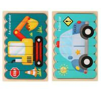 Creative Strip Double Sided 3D Wooden Puzzle Children Montessori Gifts Toys E8I0
