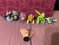 Vintage 90's Pokemon Tomy Hard Plastic Mini Figures Lot 7 Kids Collectible Toy