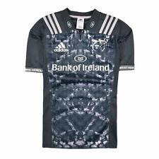 Adidas Herren Trikot Jersey Gr.L Münster Rugby Sportkleidung Grau 87224
