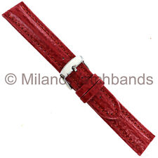20mm Milano Red Heavy Padding Stitched Genuine Shark Skin Mens Band 835 W/Defect