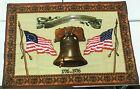 VTG 1976 BICENTENNIAL TAPESTRY Wall Hanging Liberty Bell Patriotic 1776 America