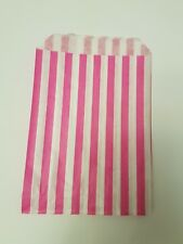 100 paper Pink and white candy stripe sweet bags wedding sweet buffet party