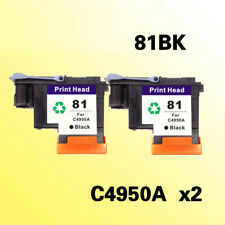 2x black printhead for hp81 for hp 81 C4950A Designjet 5000 5000ps 5500 5500ps