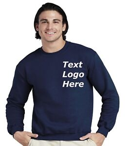 Custom-Printed /Embroidered Text Sweater personalised workwear Gym Casual