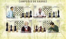 Guinea-Bissau Chess Stamps 2006 MNH Kramnik Kasparov Steinitz Sports 6v M/S II