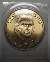 2007-P Thomas Jefferson Presidential Dollar Satin GEM BU in Mint Set Cello