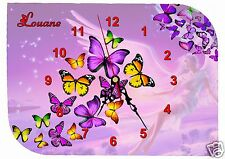 horloge pendule murale papillon ange personnalisableréf F 22