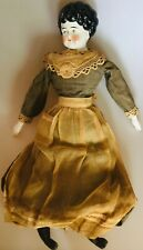 German Hertwig Low Brow Doll Original Clothes Porcelain Hands Cloth Sawdust Body