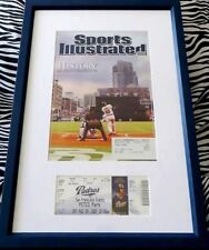 Barry Bonds Home Run #755 Ties Aaron full ticket framed w/ Sports Illustrated SI