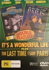 It's A Wonderful Life+The Last Time I Saw Paris DVD 2-MOVIES CHRISTMAS MOVIE R4