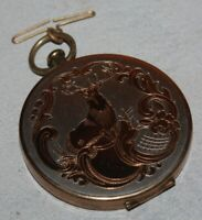 Vintage Compact Gold tone Stopwatch Style Wadsworth
