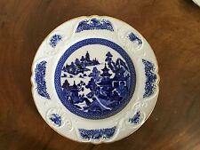 Antique Spode Porcelain Plate Blue Willow Chinese Canton 19th c. Burley & Co.