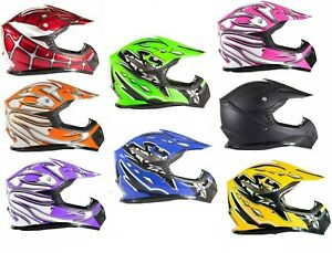 Youth Kids Motocross Helmet Child Small Medium Large XL DOT ATV UTV MX OffRoad