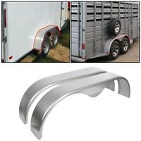 "2x Tandem Axle Pair Cold Rolled Steel Trailer Fender Teardrop 9"" x 66"" x 19.5"""