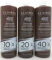 Clairol Soy 4Plex Clairoxide Clear Developer 10, 20, 40 VOL 16oz **Full Range**