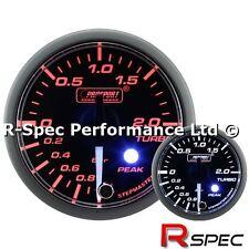 PROSPORT Premium/picco 52mm LENTE TRASPARENTE/BIANCO ago Turbo Boost Gauge-bar