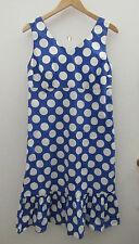 Hanna Andersson Indigo Blue Polka Dot Sleeveless Dress Girls Size 12 NWT