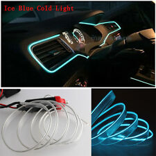 6M 12V EL Wire Ice Blue Cold light Neon Lamp Atmosphere Unique Decor For Hyundai