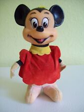 "Vintage Disney Minnie Mouse Stuffed 5"" Doll Cloth Rubber Face Head Japan"